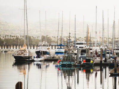 Santa Barbara Harbor in the Fall