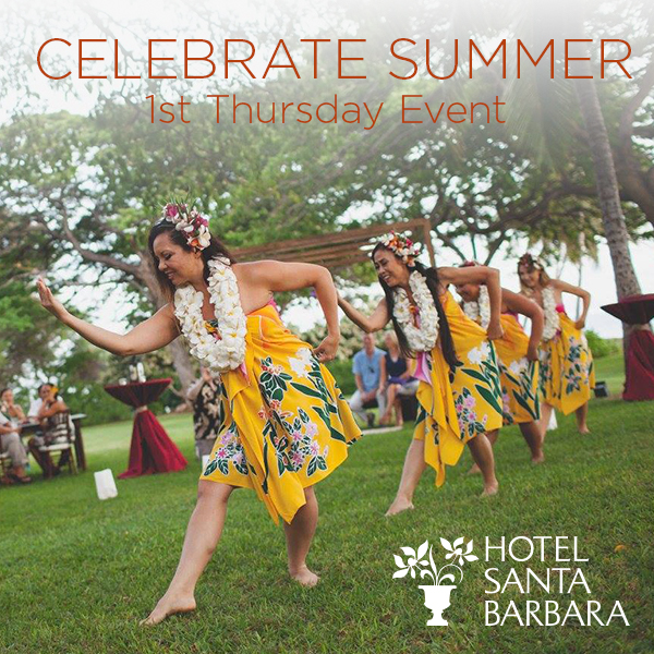 A picture of hula dancers with event details included