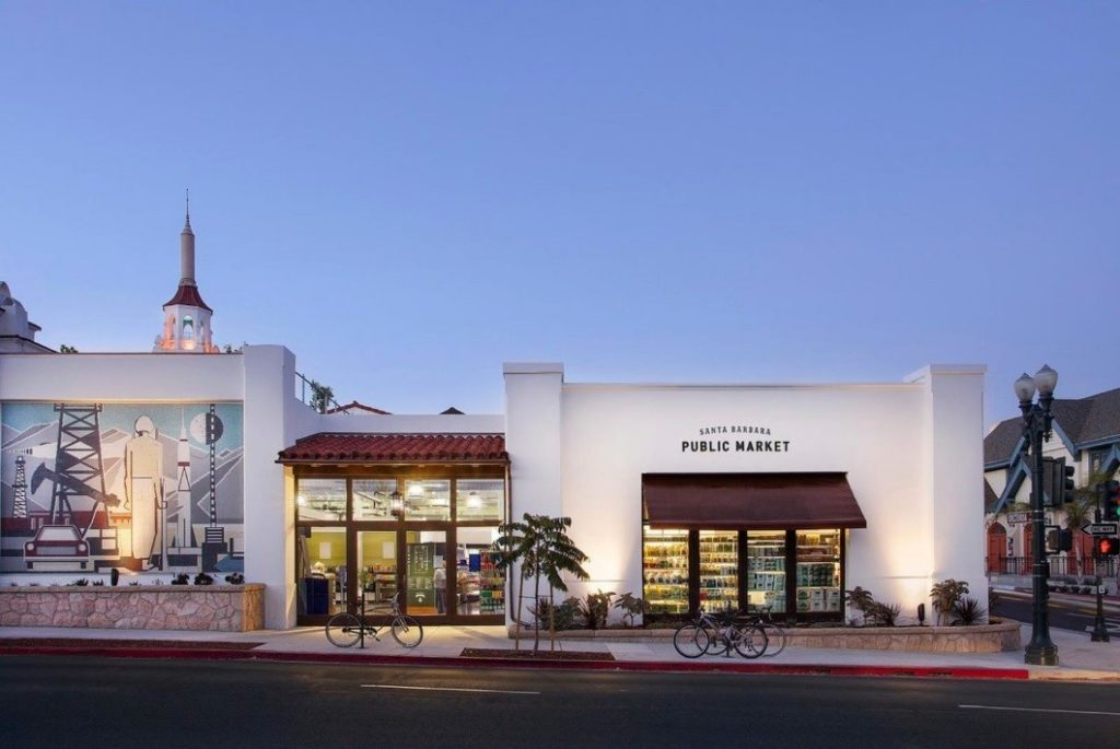 The front of the building at the santa barbara public market