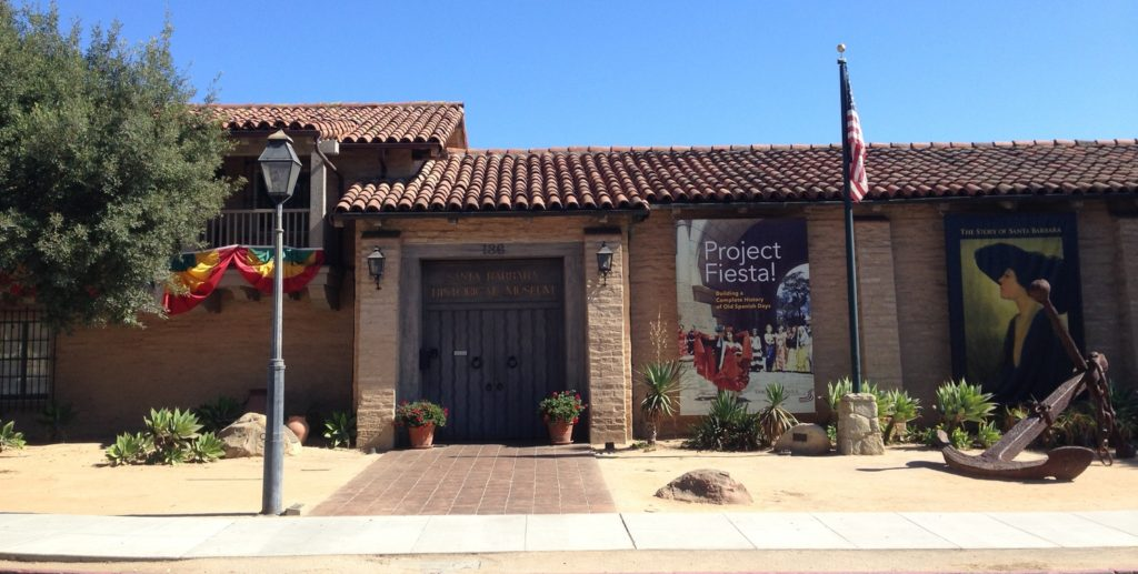 outside of Santa Barbara Historical Museum