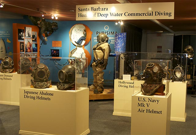 deep divers exhibit at Santa Barbara Maritime Museum